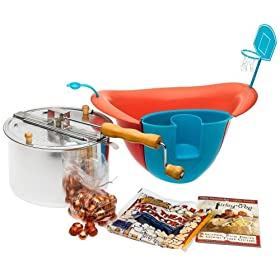 The Original Whirley Pop Stovetop Popcorn Popper and Wild Fling Bowl Set