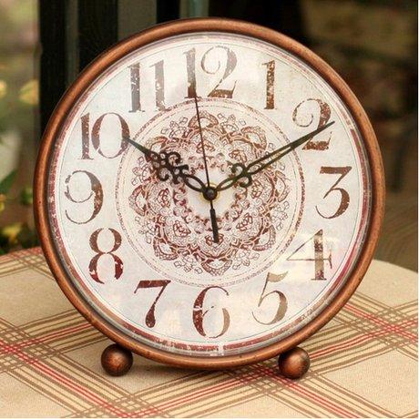 フレンチ アンティーク調 オシャレ デザイン ブロンズカラー インテリア 置時計
