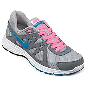Nike Women's Revolution 2 Wlf Grey/N Trq/Cl Gry/Dgtl Pink Running Shoe 9.5 Women US