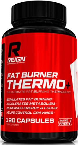 Fat Burner Thermo+ - Advanced Thermogenic for Men & Women - Includes Acetly L-Carnitine, Green Coffee, Garcinia & Yohimbine - 120 Vegetable Capsules (Thermogenic Energy Drink Mix compare prices)