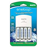 eneloop NEW 2000mAh Typical, 1900mAh Minimum, 1500 cycle, 4 Pack AA, Ni-MH Pre-Charged Rechargeable Batteries with 4 Position Charger ~ Sanyo