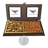 Chocholik Dry Fruits - Colorfull Treat Of Dry Fruits Box With 5gm Pure Silver Coin - Gifts For Diwali