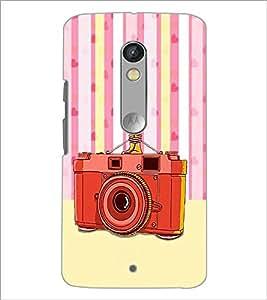 PrintDhaba Camera D-3908 Back Case Cover for MOTOROLA MOTO X PLAY (Multi-Coloured)