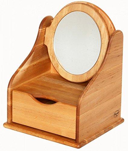 Frisierspiegel mit Schublade und verstellbarem Spiegel aus massivem Erlenholz kaufen