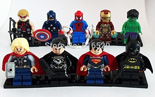 Marvel Super Heroes Avengers Minifigures 18pcs/lot Iron Man Batman Building Block Sets Model Bricks Toys Lego Compatible (Super Hero Squad Helicarrier compare prices)
