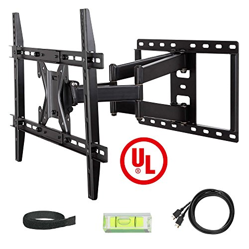 Mounting Dream® UL Certified MD2296 TV Wall Mount Bracket with Full Motion Dual Articulating Arm for most of 42-70 Inches LED, LCD and Plasma TVs up to VESA 600x400mm and 100lbs, with Tilt, Swivel, and Rotation Adjustment, Including 6 ft HDMI Cable and Bubble Level