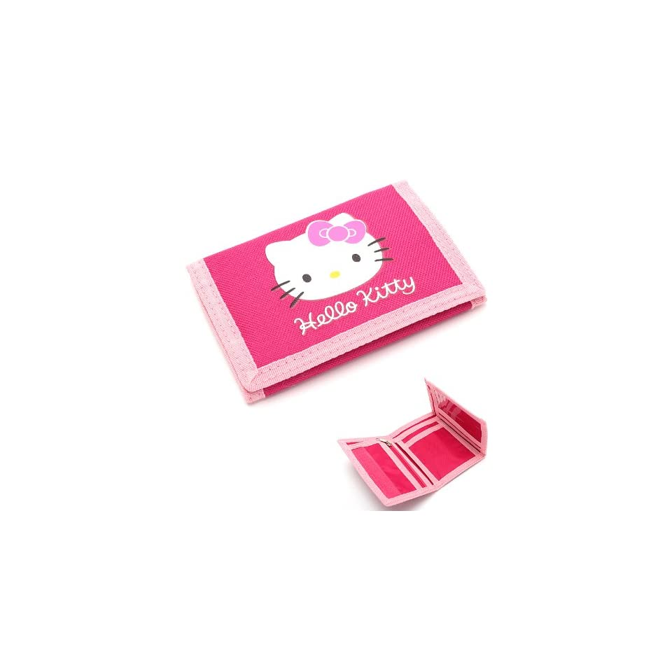 Hello Kitty Ribbon Wallet Velcro Closure