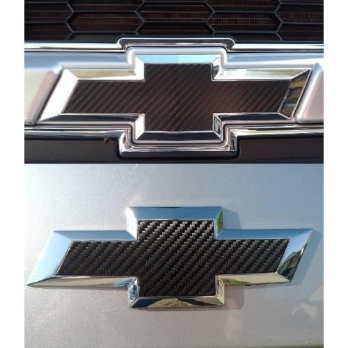 Chevy Spark 2013-2014 13 14 : Black Carbon Fiber Grille & Trunk Bowtie