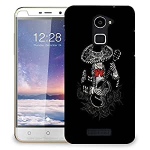 Snoogg Skeleton Playing Guitar Designer Protective Back Case Cover For COOLPAD NOTE 3 LITE