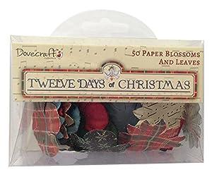 Dovecraft 12 Jours De Noël Papier S'épanouit & Laisse Pack 50
