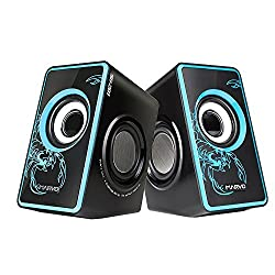 Computer Speaker,Marvo SG-201 USB Powered Speakers System with Subwoofer for PC and Gaming Systems(Blue)
