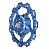 Bike Cycling Rear Mech Derailleur Pulley Wheel Aluminum Alloy Mountain Bicycle(Blue)