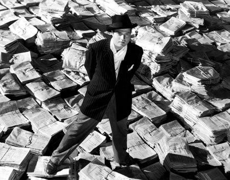 Photo B&W Orson Welles Citizen Kane