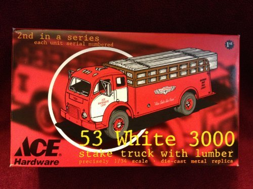 ace-hardware-53-white-3000-stake-truck-with-lumber-134-scale-die-cast-replica-truck-by-1st-gear