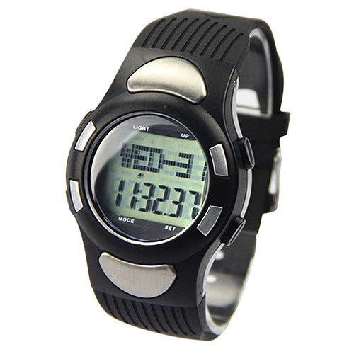 Alike Multifunctional Digital Electronic Waterproof Heart Rate Watch Silver