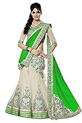 Georgette Party Wear Lehenga Choli in Green Colour