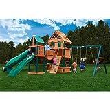 Gorillaplaysets Home Outdoor Playground Garden Patio BackYard Woodbridge Cedar Swing Set