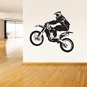 Room wall vinyl sticker decal mural design for Dirt bike wall mural