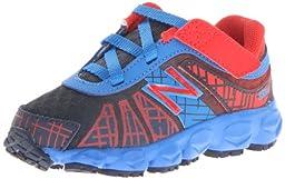 New Balance KV890 Hook and Loop Running Shoe (Infant/Toddler),Blue/Red,2 M US Infant
