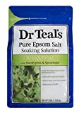 Dr Teal's Pure Epsom Salt Soaking Solution, Relax & Relief With Eucalyptus & Spearmint, 3 Pound Bag
