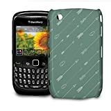 Phone Case For BlackBerry Curve 8520/9300 - Hispter Tribal Arrows Glossy Wrap-Around by Queen of Cases
