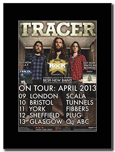 Tracer-UK Tour date aprile 2013 Magazine Promo su un supporto, colore: nero
