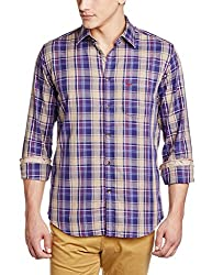 Park Avenue Men's Casual Shirt (8907114984863_PCSA00659-B7_42_Dark Blue)