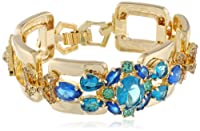 "Carolee ""Cerulean Skies"" Flex Goldtone and Stone Bracelet by Carolee"