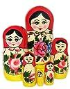 Babushka Semenov Nesting Dolls 6 piece set 5.5H