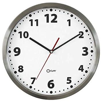 Orium 11513 horloge basique inox inox diam tre 34 for Horloge inox cuisine