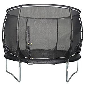 Plum Products Kids Magnitude Trampoline and 3G Enclosure - Black, 10 Ft