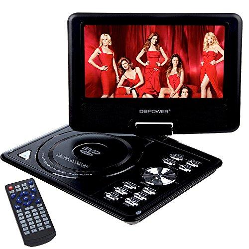 dbpower lecteur dvd portable 9 5 cran lcd rotatif usb soutien dvd vcd cd chargeur de. Black Bedroom Furniture Sets. Home Design Ideas