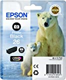 Epson 26 - Print cartridge - 1 x photo black - 200 pages - for Expression Premium XP- 710, XP-510, XP-600, XP-605, XP-610, XP-615, XP-700, XP-800, XP-810