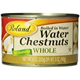 Roland Whole Water Chestnuts, 8-Ounce Cans (Pack of 24)
