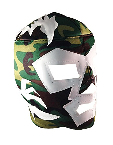 DR. WAGNER Adult Lucha Libre Wrestling Mask (pro-fit) Costume Wear - Cammo