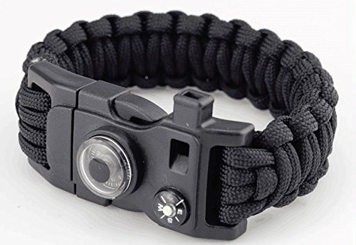 2-Frijid-Paracord-Bracelets-15-in-1-Multi-Function-Survival-Kit-Compass-Thermometer-Fire-Starter-Whistle-Multi-Tool-Bottle-Opener