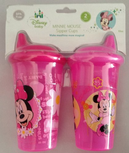 Disney Baby Minnie Mouse Sipper Cups 2 X 10oz Cups