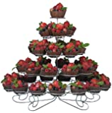 Home-X Cupcake Desert Tower Stand, 5 Tier - 41 Count