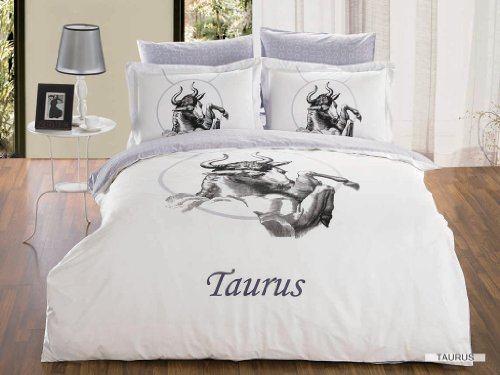 6 Pc Taurus Zodiac Full or Queen Duvet Cover Bedding Set