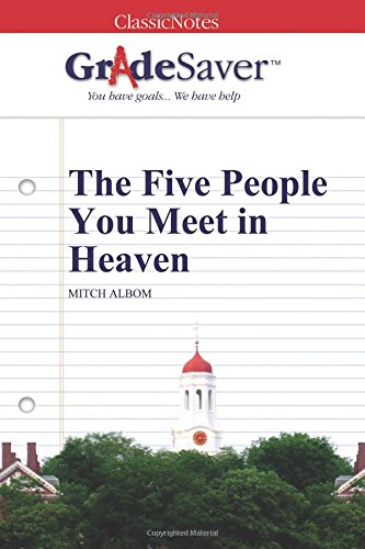 essay about the five people you meet in heaven Mitch albom's, the five people you meet in heaven essay - in mitch albom's,  the five people you meet in heaven, the author centers the story around  eddie's.