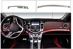 See 9 Moon Stainless Steel Car Interior Golve Box Sticker Trim for Chevrolet CRUZE 2009-2013 6PCS/SET Details