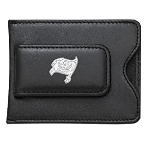 NFL Logo Black Leather Money Clip Credit Card ID Holder NFL Team: Tampa Bay... by LogoArt
