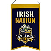 NCAA Notre Dame Fighting Irish Nations Banner Color: Notre Dame Fighting Irish Size: 14X22 Model: 30015 Sports
