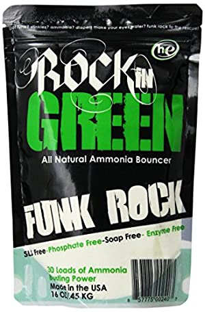 Rockin' Green Funk Rock Ammonia Bouncer Detergent, 16 Fluid Ounce