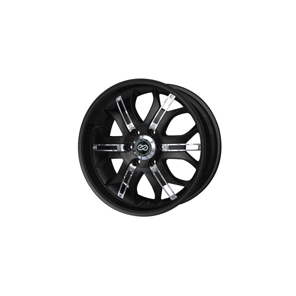 20x9.5 Enkei GRAB6 (Black w/ Chrome Trim) Wheels/Rims 6x139.7 (453 295 8410BK)