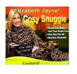 Leopard Print Soft Warm Cosy Snuggle TV Blanket Fleece Snug Sleeves Sleeved Rug