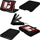 IGadgitz Black 'Guardian' Genuine Leather Case Cover for Motorola Xoom 2 Droid Xyboard 10.1