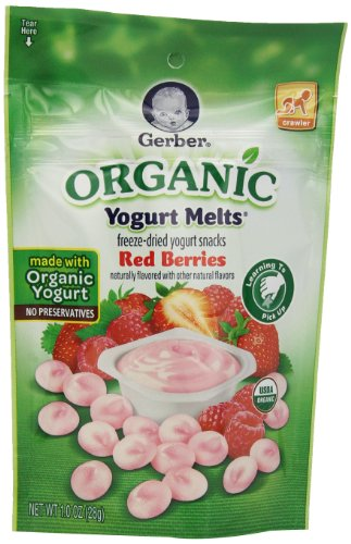 Gerber Organic Yogurt Melts, Red Berries, 1 oz - 1