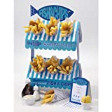 Talking Tables Street Stall Fish and Chip 2-Tier Stall Stand