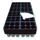 1440 Cells Seedling Starter Trays for Seed Germination +10 Plant Labels (240, 6-cell Trays)